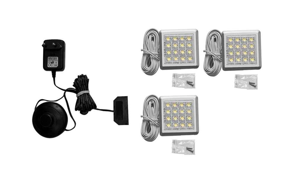 Zestaw oświetlenia LED 3 punktowy MULTIFORTE IZLED09-03