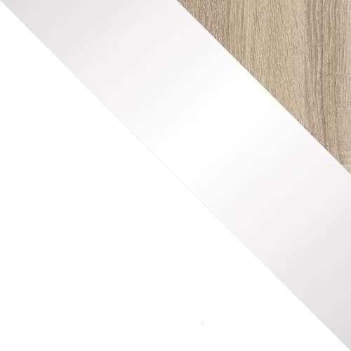 Fehér / Sonoma + Fehér magasfényű