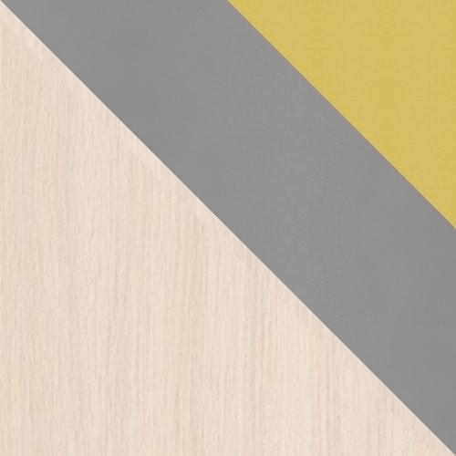 Tölgy Cremona / Szürke + Sárga