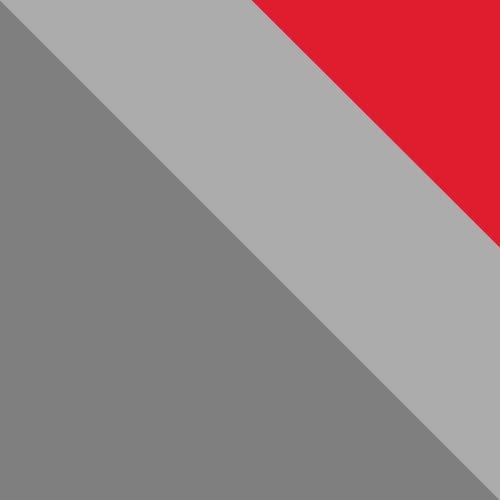 Szürke / Grafit + piros