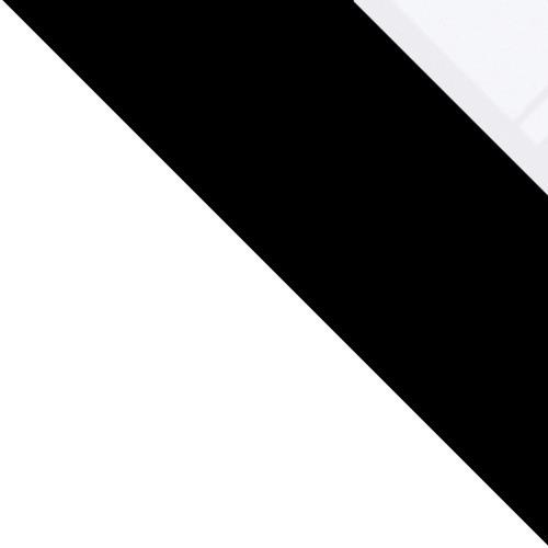 Fehér / Fekete + fehér üveg