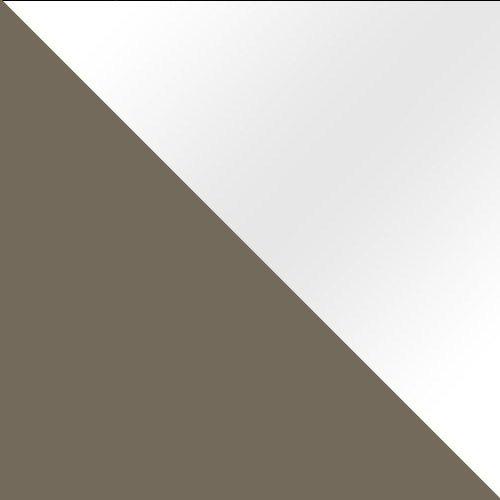 latte / fehér magasfényű