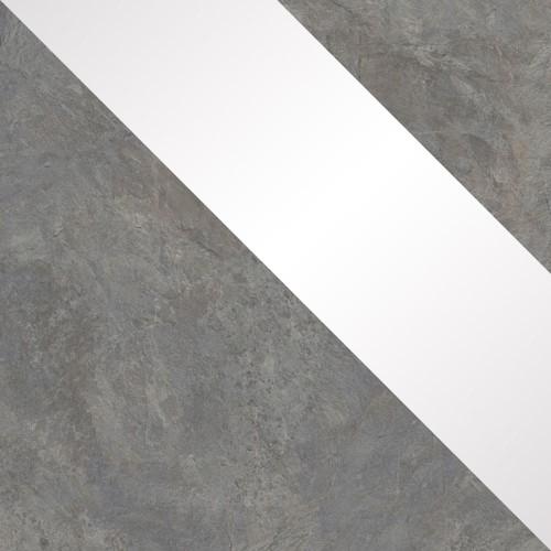 buntschiefer / fehér magasfényű