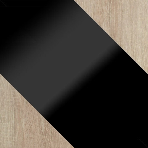 sonoma + fekete magasfényű / fekete magasfényű + sonoma