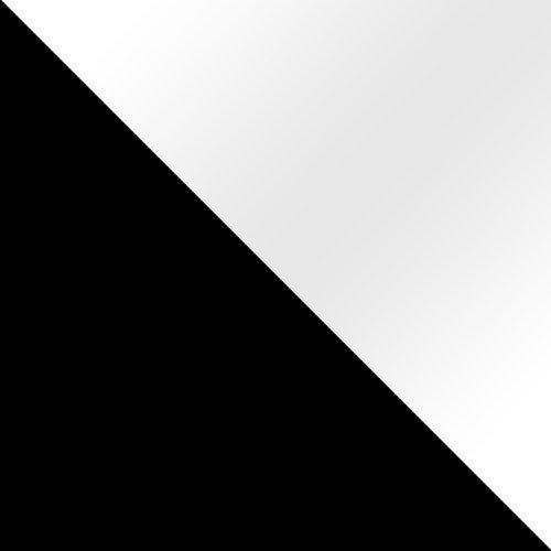 fekete / fehér magasfenyű