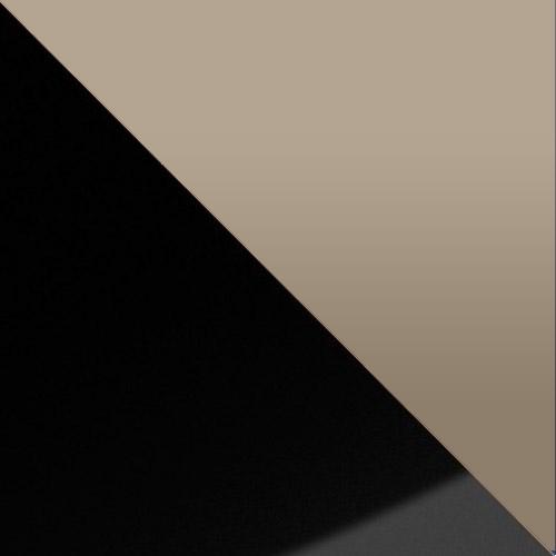 fekete / cream magasfenyű