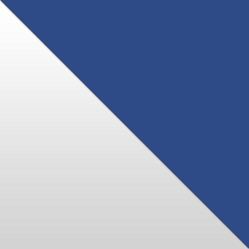 fehér magasfényű / kék