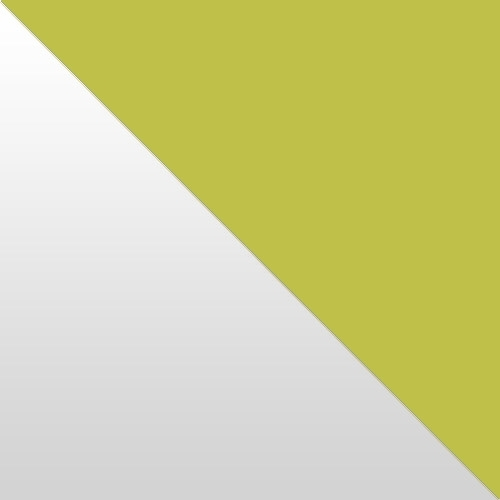 fehér magasfényű / zöld