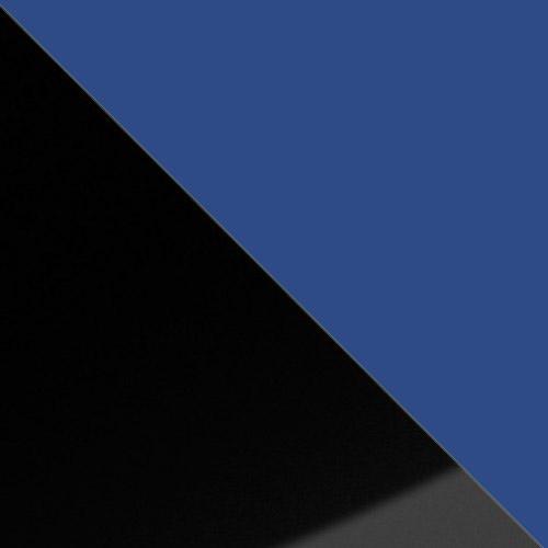 fekete magasfényű / kék