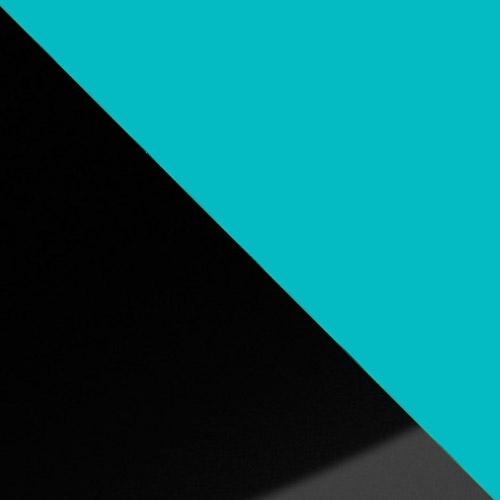 fekete magasfényű / világoskék