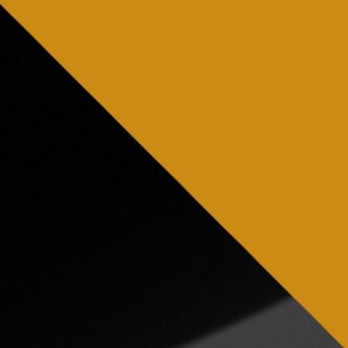 fekete magasfényű / narancs