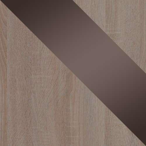 Sonoma trufel + sonoma trufel + barna magasfényű