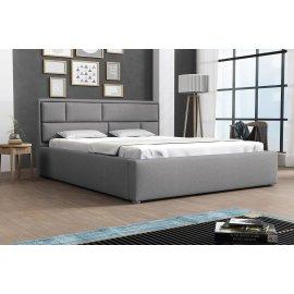 Kárpitos ágy , ágyneműtartóval és Deco ágyráccsal