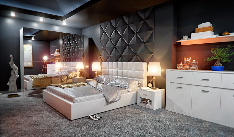 Hálószoba glamour stílusban - butor-mirjan24.hu