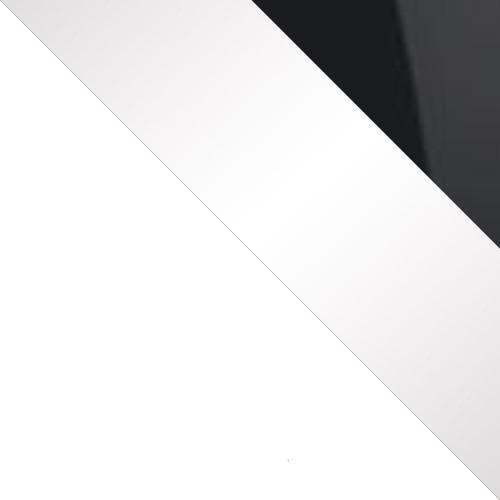 Fehér / Fehér + Fekete magasfényű