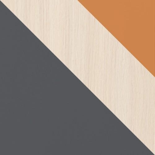 Grafit / Tölgy Cremona + narancs
