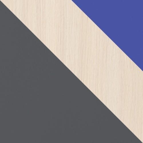 Grafit / Tölgy Cremona + kék