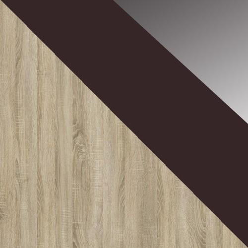 Sonoma / Gesztenye üveg + sötét tükör