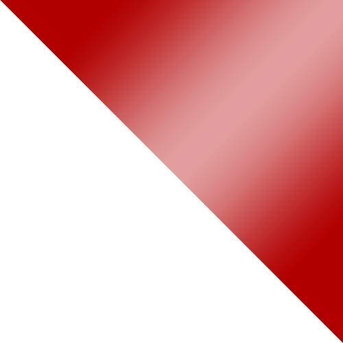 Fehér / Piros magasfényű