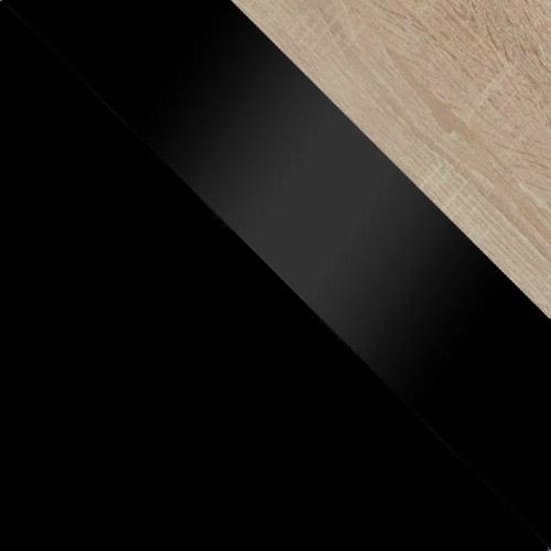 fekete / fekete magasfényű + sonoma