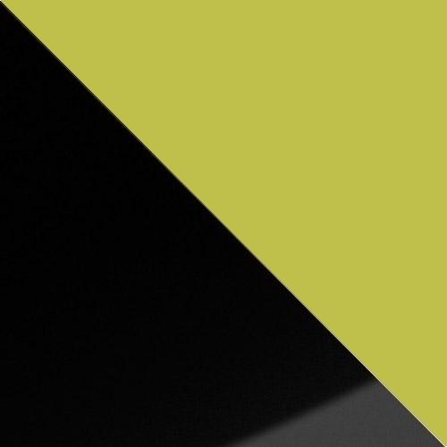 fekete magasfényű / zöld
