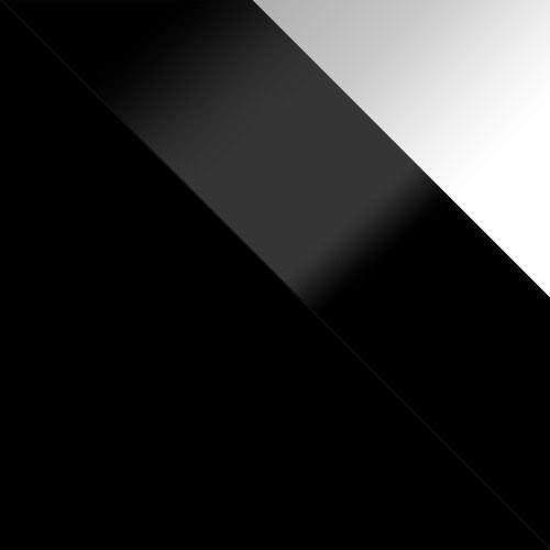 fekete / fekete magasfényű + fehér magasfényű