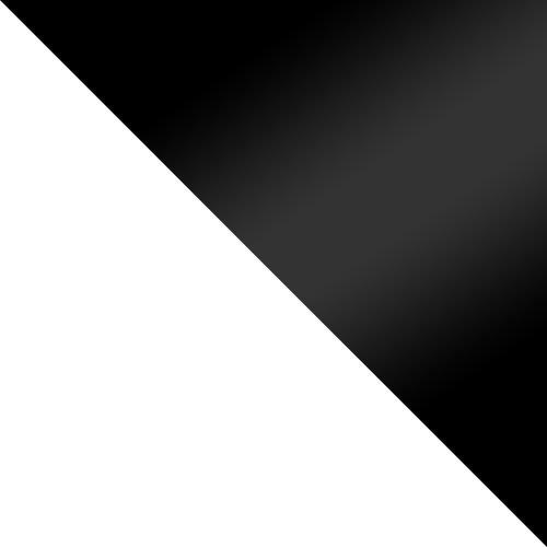 fehér / fekete magasfényű